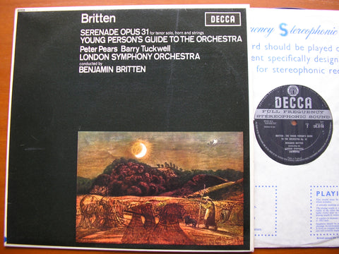 BRITTEN: SERENADE / YOUNG PERSON'S GUIDE   PEARS / TUCKWELL / LONDON SYMPHONY / BRITTEN    SXL 6110