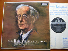 HOLST: THE HYMN OF JESUS / THE PERFECT FOOL / EGDON HEATH    BOULT / LONDON PHILHARMONIC    SXL 6006