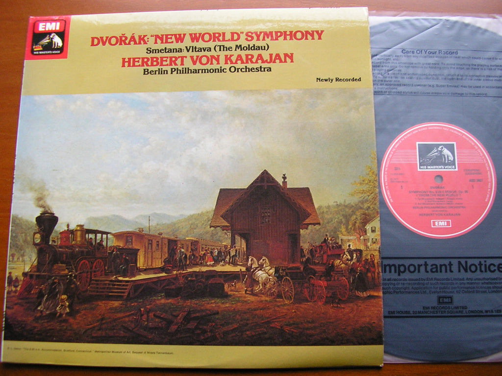 DVORAK: SYMPHONY No. 9 'New World' / SMETANA: The Moldau    KARAJAN / BERLIN PHILHARMONIC  ASD 3407