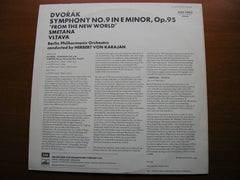 DVORAK: SYMPHONY No. 9 'New World' / SMETANA: The Moldau   KARAJAN / BERLIN PHILHARMONIC   ASD 2863