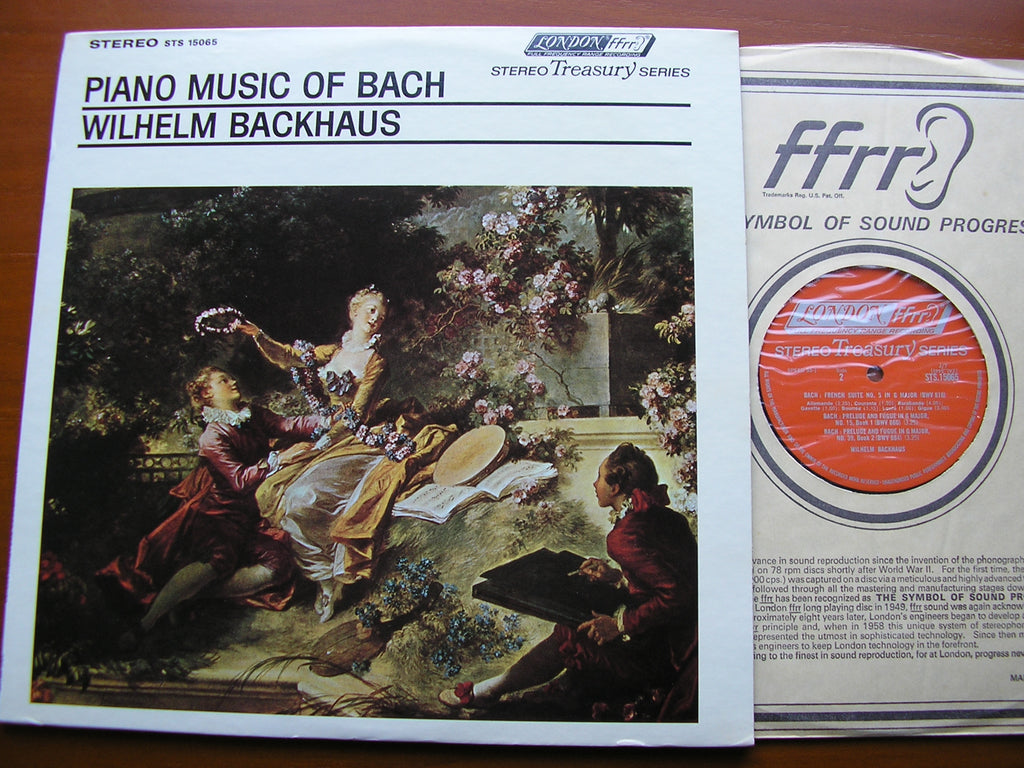 BACH: ENGLISH SUITE No. 6 / FRENCH SUITE No. 5 / PRELUDE & FUGUE Nos.15 & 39    BACKHAUS   STS 15065