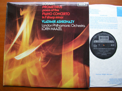 SCRIABIN: PROMETHEUS - POEM OF FIRE / PIANO CONCERTO   ASHKENAZY / LONDON PHILHARMONIC / LORIN MAAZEL      SXL 6527