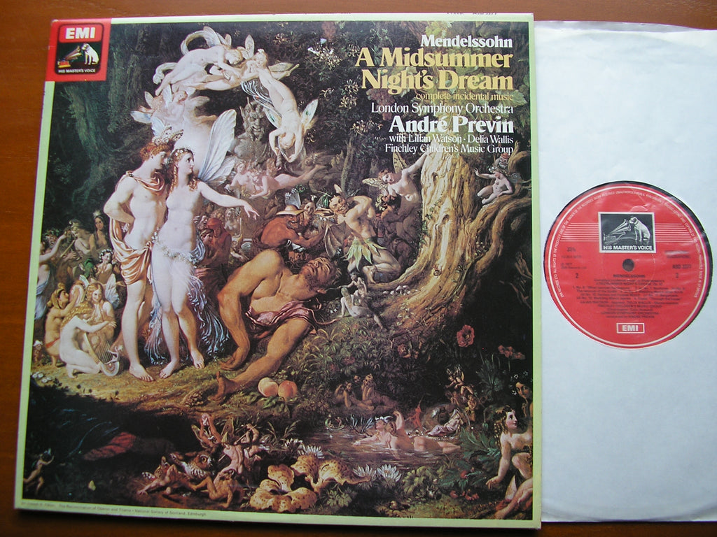 MENDELSSOHN: A MIDSUMMER NIGHT'S DREAM  SOLOISTS / LONDON SYMPHONY / PREVIN    ASD 3377