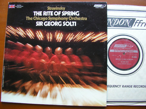 STRAVINSKY: THE RITE OF SPRING  SOLTI / CHICAGO ORCHESTRA  CS 6885