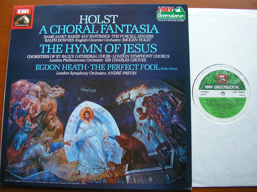 HOLST: A CHORAL FANTASIA / THE HYMN OF JESUS / EGDON HEATH   ECO / LPO / LSO / GROVES / PREVIN / IMOGEN HOLST   ESD 1783041
