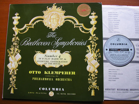 BEETHOVEN: SYMPHONY No. 4 / OVERTURE Consecration of the House   KLEMPERER / PHILHARMONIA    SAX 2354
