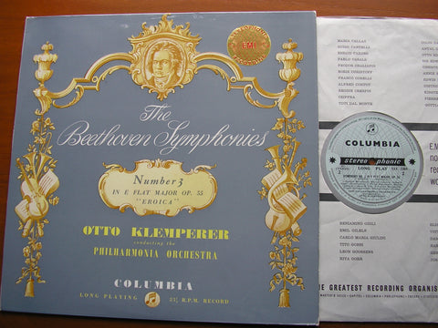 BEETHOVEN: SYMPHONY No. 3 'Eroica'    KLEMPERER / PHILHARMONIA    SAX 2364