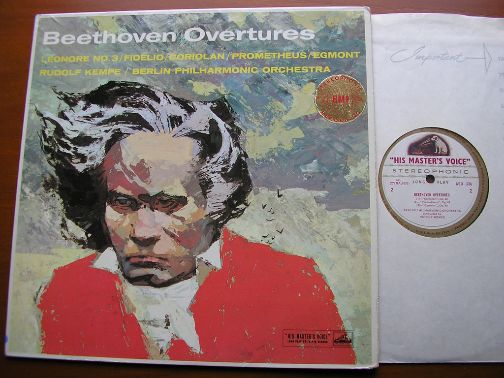 BEETHOVEN: OVERTURES    KEMPE / BERLIN PHILHARMONIC   ASD 336