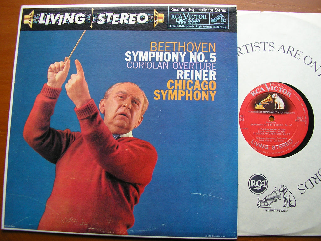 BEETHOVEN: SYMPHONY No. 5 / OVERTURE: Coriolan    REINER / CHICAGO SYMPHONY   LSC 2343