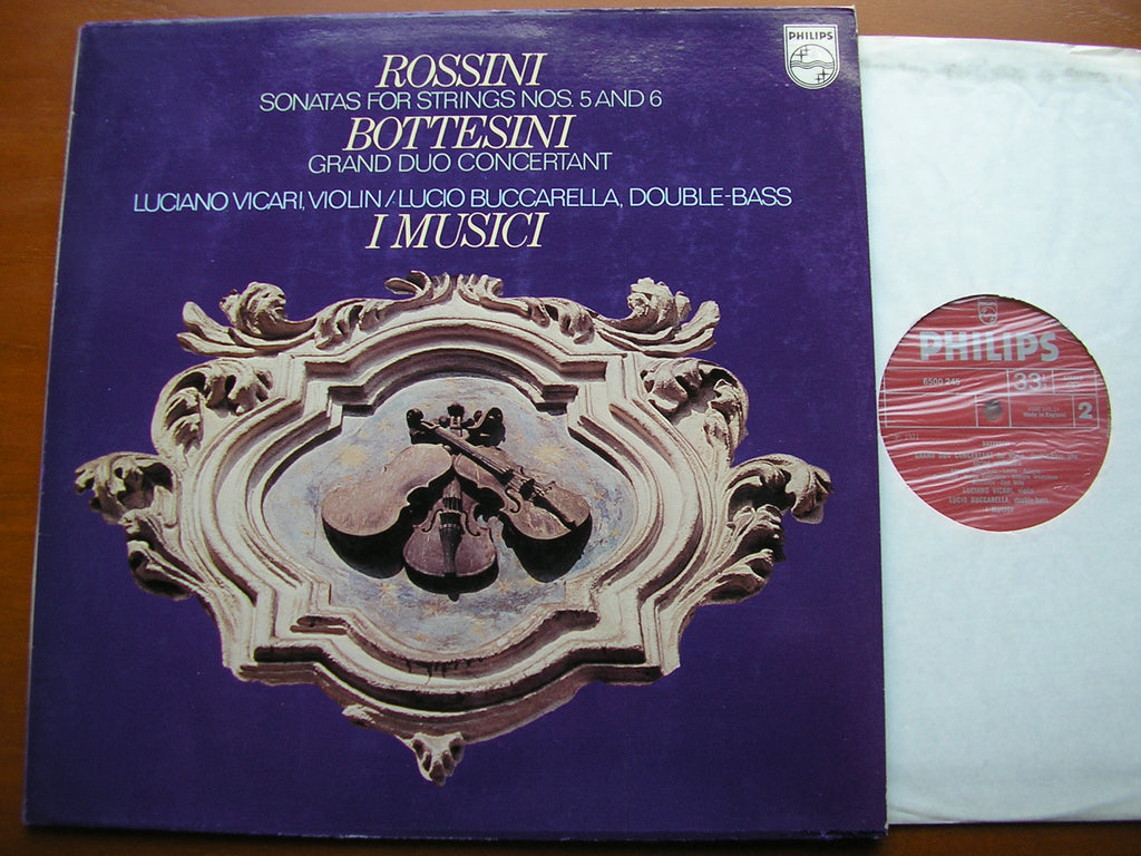 ROSSINI: STRING SONATAS Nos. 5 & 6 / BOTTESINI: GRAND DUO CONCERTANTE    I MUSICI     6500 245