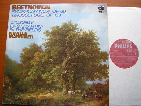 BEETHOVEN: SYMPHONY No. 4 / GROSSE FUGUE    MARRINER / ASMIF    9500 033
