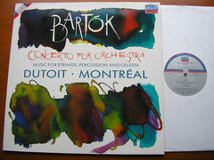 BARTOK: CONCERTO FOR ORCHESTRA / MUSIC FOR STRINGS, PERCUSSION & CELESTA    DUTOIT / MONTREAL SYMPHONY   421 443