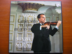 MOZART: THE COMPLETE WORKS FOR VIOLIN & ORCHESTRA    SZERYNG / NEW PHILHARMONIA / GIBSON   4 LP   6707 011