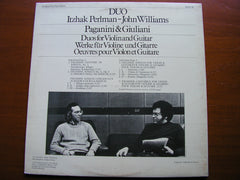 PAGANINI / GIULIANI: DUOS FOR VIOLIN & GUITAR   ITZHAK PERLMAN / JOHN WILLIAMS   76525