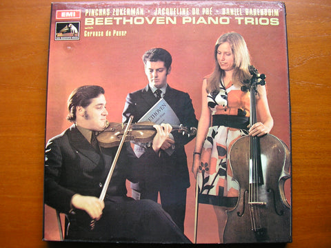 BEETHOVEN: THE PIANO TRIOS   DU PRE / BARENBOIM / ZUKERMAN    5 LP    SLS 789