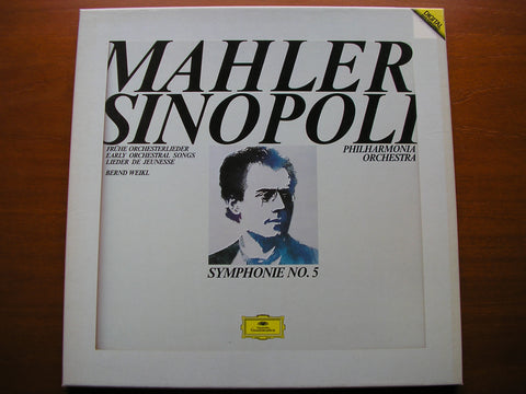 MAHLER: SYMPHONY No. 5 / SIX EARLY SONGS    WEIKL / PHILHARMONIA / SINOPOLI   2 LP     415 476