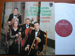 HAYDN: 'EMPEROR' & 'SUNRISE' STRING QUARTETS Op. 76   QUARTETTO ITALIANO   9500 157