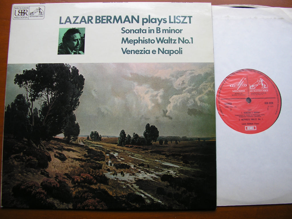 LAZAR BERMAN PLAYS LISZT: SONATA in B Minor / VENEZIA e NAPOLI / MEPHISTO WALTZ No.1  ASD 3228