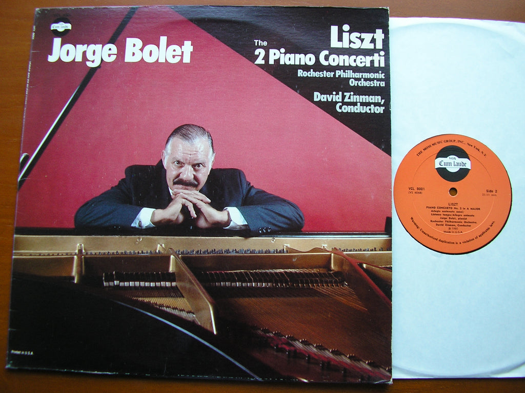 LISZT: THE TWO PIANO CONCERTOS   BOLET / ROCHESTER PHILHARMONIC / ZINMAN  VCL 9001