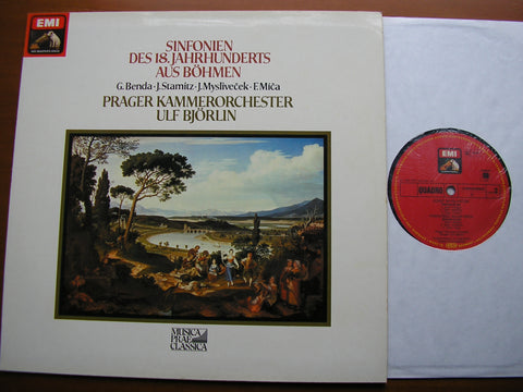 BOHEMIAN SYMPHONIES OF THE 18th CENTURY: BENDA / STAMITZ / MYSLIVECEK / MICA    PRAGUE CHAMBER ORCHESTRA / BJORLIN   065 03 659