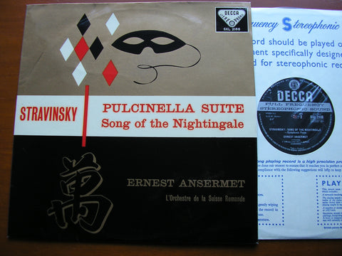 STRAVINSKY: PULCINELLA SUITE / SONG OF THE NIGHTINGALE    ANSERMET / SUISSE ROMANDE    SXL 2188