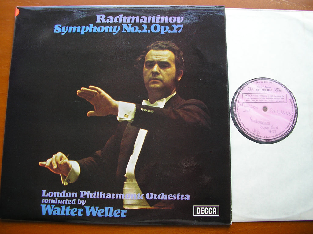 RACHMANINOV: SYMPHONY No. 2   WELLER / LONDON PHILHARMONIC  SXL 6623