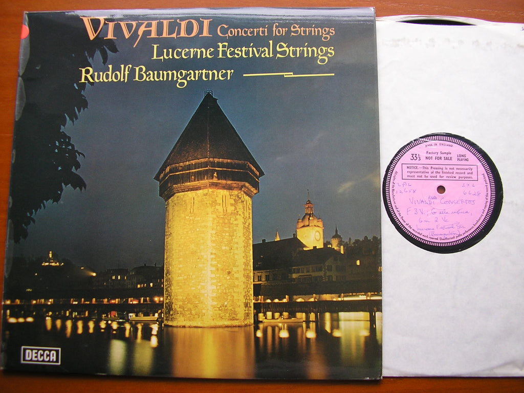 VIVALDI: CONCERTI FOR STRINGS   BAUMGARTNER / LUCERNE FESTIVAL STRINGS    SXL 6628
