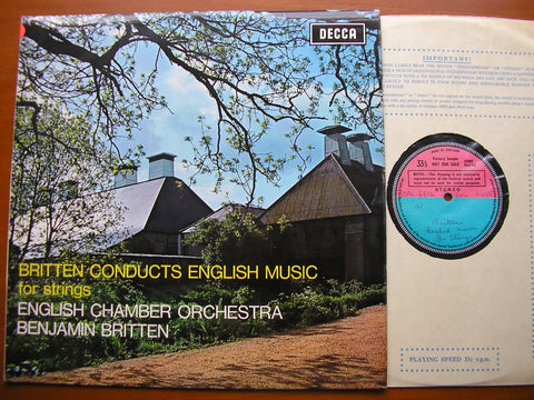 BRITTEN CONDUCTS ENGLISH MUSIC FOR STRINGS     ENGLISH CHAMBER ORCHESTRA / BRITTEN   SXL 6405