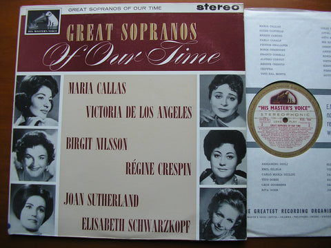 GREAT SOPRANOS OF OUR TIME    CALLAS / NILSSON / CRESPIN / SUTHERLAND / SCHWARZKOPF    ASD 558