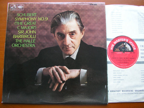 SCHUBERT: SYMPHONY No. 9 'The Great C Major'    BARBIROLLI / HALLE ORCHESTRA     ASD 2251