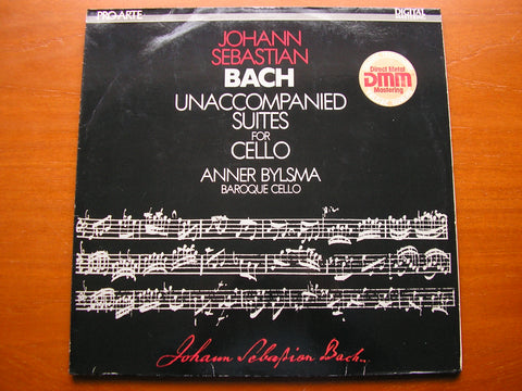 BACH: THE SIX UNACCOMPANIED CELLO SUITES     ANNER BYLSMA, baroque cello   2LP   PAD 230