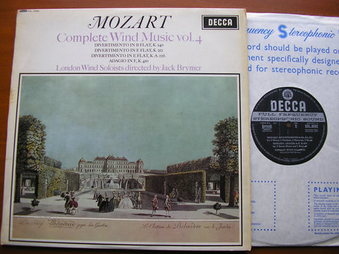 MOZART: COMPLETE WIND MUSIC Volume 4    JACK BRYMER / LONDON WIND SOLOISTS   SXL 6052