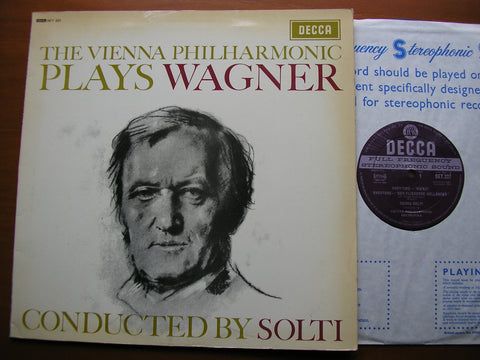 WAGNER: ORCHESTRAL MUSIC from Rienzi / Tannhauser / The Flying Dutchman    SOLTI / VIENNA PHILHARMONIC    SET 227