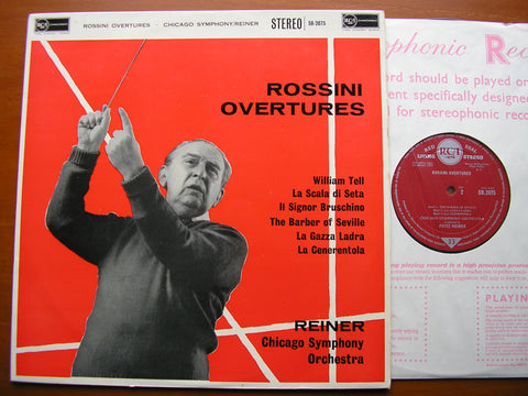 ROSSINI: OVERTURES    FRITZ REINER / CHICAGO SYMPHONY ORCHESTRA   SB 2075