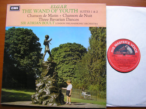 ELGAR: THE WAND OF YOUTH / CHANSON DE MATIN / CHANSON DE NUIT / 3 BAVARIAN DANCES     BOULT / LONDON PHILHARMONIC   ASD 2356