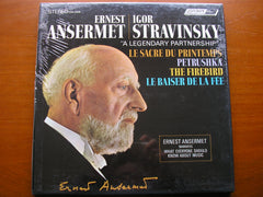 ANSERMET CONDUCTS STRAVINSKY: PETRUSHKA / THE FIREBIRD / THE RITE OF SPRING / LE BAISER DE LA FEE   ANSERMET / SUISSE ROMANDE ORCHESTRA    CSA 2308   ** SEALED**