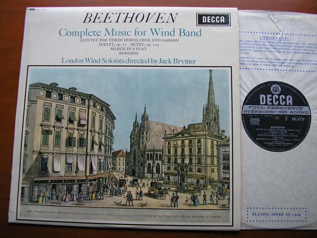 BEETHOVEN: COMPLETE MUSIC FOR WIND BAND    BRYMER / LONDON WIND SOLOISTS   SXL 6170