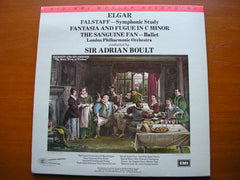 ELGAR: FALSTAFF / FANTASIA & FUGUE / THE SANGUINE FAN   BOULT / LONDON PHILHARMONIC   MFSL 200