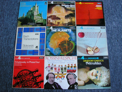 DECCA PHASE 4 & EMI STUDIO 2 AUDIOPHILE COLLECTION   63 TITLES (65 LPs)