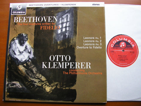 BEETHOVEN: THE FOUR FIDELIO OVERTURES    KLEMPERER / PHILHARMONIA    SAX 2542
