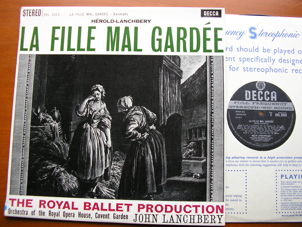 HEROLD: LA FILLE MAL GARDEE    LANCHBERY / ORCHESTRA OF THE ROYAL OPERA HOUSE COVENT GARDEN    SXL 2313