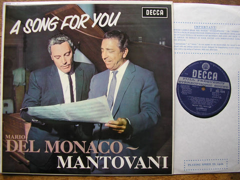 A SONG FOR YOU: ROMBERG / GASTALDON / CARDILLO / BERNSTEIN /  LEHAR MARIO DEL MONACO / MANTOVANI SKL 4510