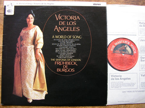 A WORLD OF SONG VICTORIA DE LOS ANGELES / SINFONIA OF LONDON / DE BURGOS ASD 651