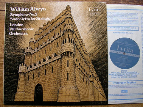 ALWYN: SYMPHONY No. 2 / SINFONIETTA WILLIAM ALWYN / LONDON PHILHARMONIC ORCHESTRA SRCS 85