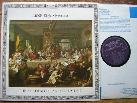 ARNE: EIGHT OVERTURES CHRISTOPHER HOGWOOD / ACADEMY OF ANCIENT MUSIC DSLO 503