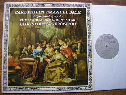 BACH, CPE: SIX SYMPHONIES Wq 182 CHRISTOPHER HOGWOOD / THE ACADEMY OF ANCIENT MUSIC 417 124