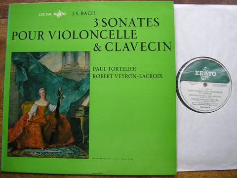 BACH: THREE SONATAS FOR CELLO & HARPSICHORD TORTELIER / VEYRON-LACROIX LDE 3266