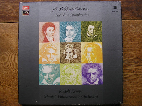 BEETHOVEN: THE NINE SYMPHONIES RUDOLF KEMPE / MUNICH PHILHARMONIC ORCHESTRA Q4 SLS 892