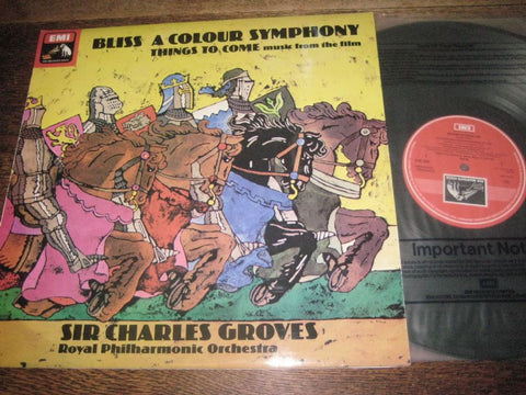 BLISS: THINGS TO COME / A COLOUR SYMPHONY  GROVES / RLPO  ASD 3416