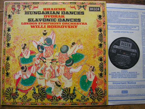 BRAHMS: HUNGARIAN DANCES / DVORAK: SLAVONIC DANCES WILLI BOSKOVSKY / LSO SXL 6696
